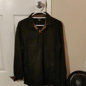 Olive green Eddie Bauer button up jacket